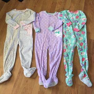 Set of 3 Fleece Pajamas
